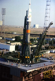 Soyuz TM-15 on the launch pad