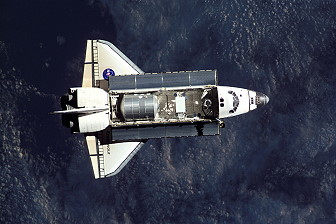 STS-108 in orbit