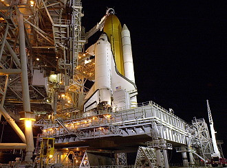 STS-108 on launch pad