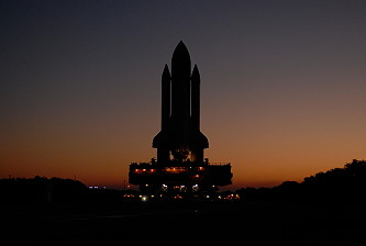 STS-122 rollout