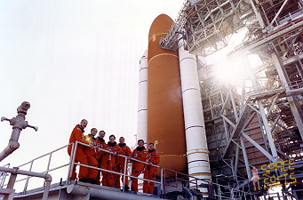 STS-42 on launch pad