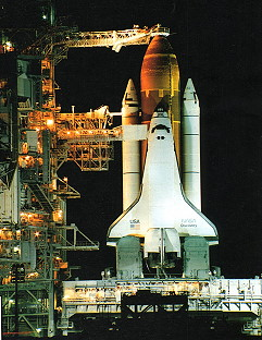 STS-51 on launch pad