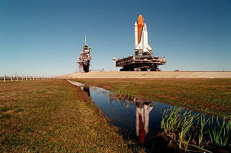 STS-67 rollout