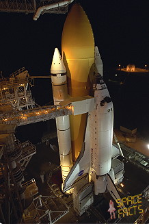 STS-98 on launch pad