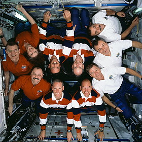 traditional in-flight photo STS-105