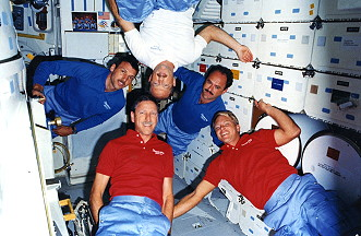 traditional in-flight photo STS-26