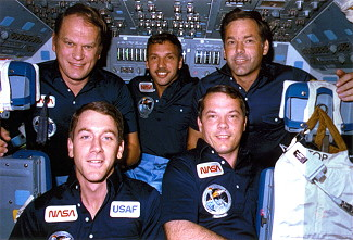 traditional in-flight photo STS-51J