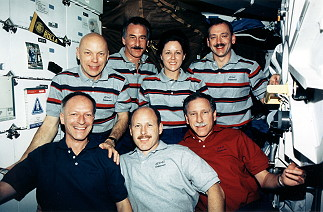 traditional in-flight photo STS-61