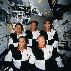 traditional in-flight photo STS-69