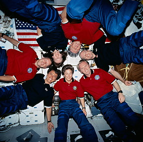 traditional in-flight photo STS-91