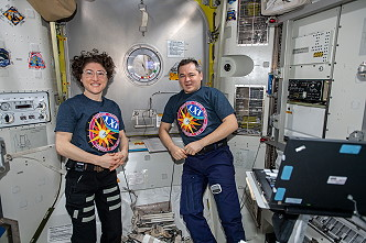 Christina Koch and Oleg Skripochka assisted the spacewalkers on November 22, 2019