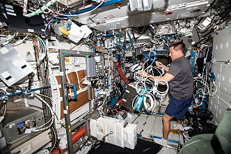 Christopher Cassidy onboard ISS