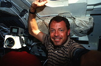 Hammond onboard Space Shuttle
