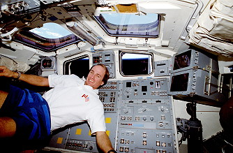 MacLean onboard Space Shuttle