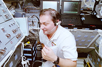 Titov onboard Space Shuttle
