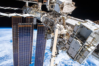 ISS taken by Luca Parmitano during his spacewalk