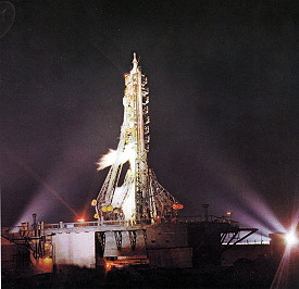 Soyuz 23 on the launch pad