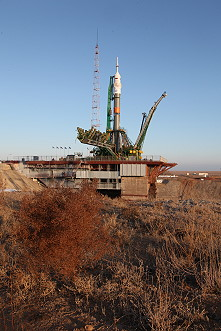 Soyuz MS-03 on the launch pad