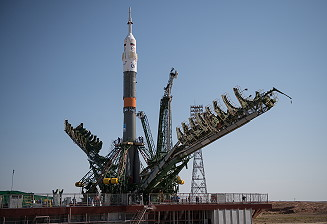 Soyuz MS-05 on the launch pad
