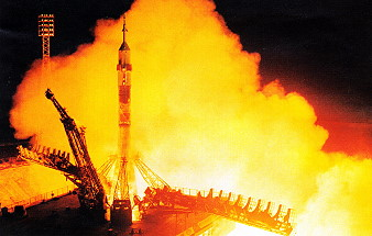 Soyuz TM-20 launch
