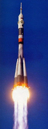 Soyuz TM-24 launch