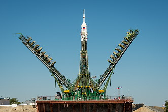 Soyuz TMA-09M on the launch pad