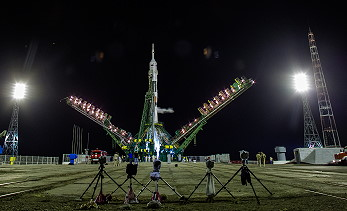 Soyuz TMA-13M on the launch pad