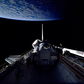 STS-37 in orbit