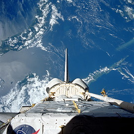 STS-57 in orbit
