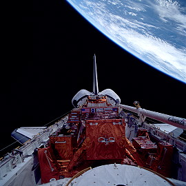 STS-82 in orbit