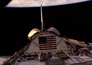 STS-8 in orbit